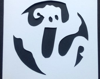 Ghost Paper Cut Card