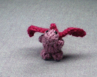 Tiny Cerise the Dragon - Knitted and Crocheted