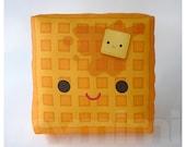 Decorative Pillow, Mini Pillow, Kawaii Print, Toy Pillow - Yummy Waffle