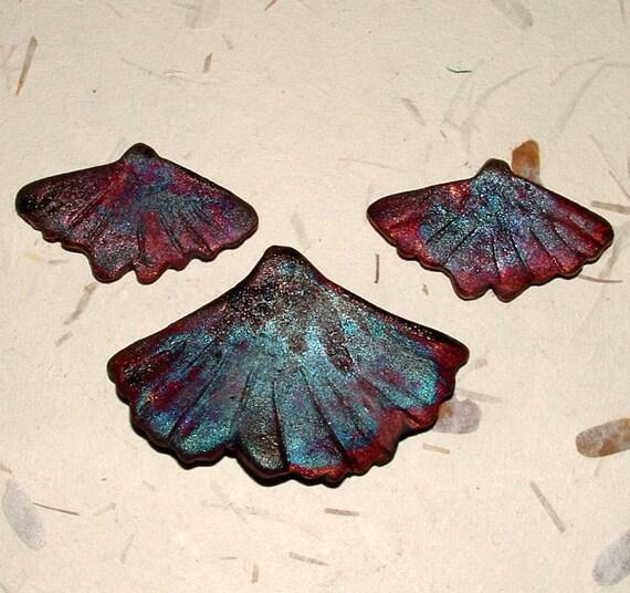 Matt Raku fired  ginkgo leaf set odd265