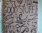 ON A HAPPY NOTE notebook sketchbook planner journal