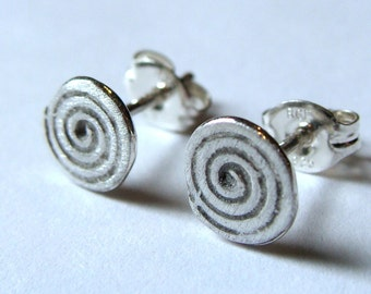 Swirl Studs Post Sterling Silver Earrings Stud Earrings