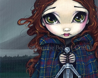 A Walk Through the Highlands celtic fairy art print by Jasmine Becket-Griffith 8x10