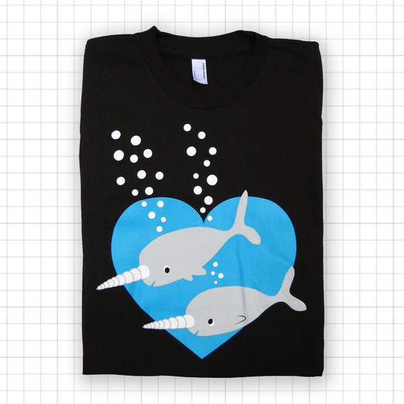 SALE Narwhal Love ADULT T-shirt - Last One