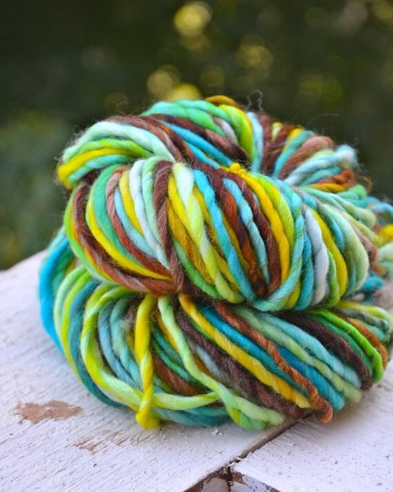 Sea Turtle super bulky superwash merino handspun yarn