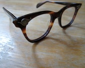 american optical vintage plastic tortoise shell eye class frame