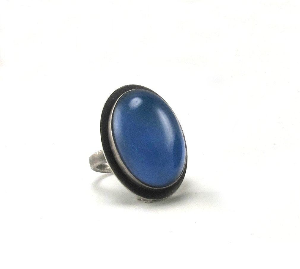 sterling silver mood ring oval