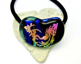 Fused Glass Pony Tail Holder - Bracelet