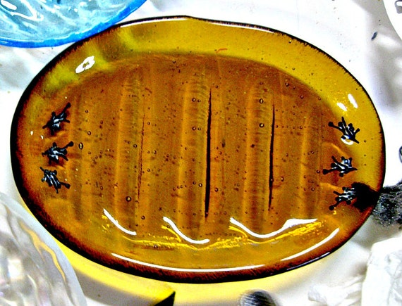 Fused Glass Soap Dish or Trinket Dish