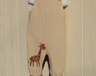 Giraffe Overalls Size 12 Months