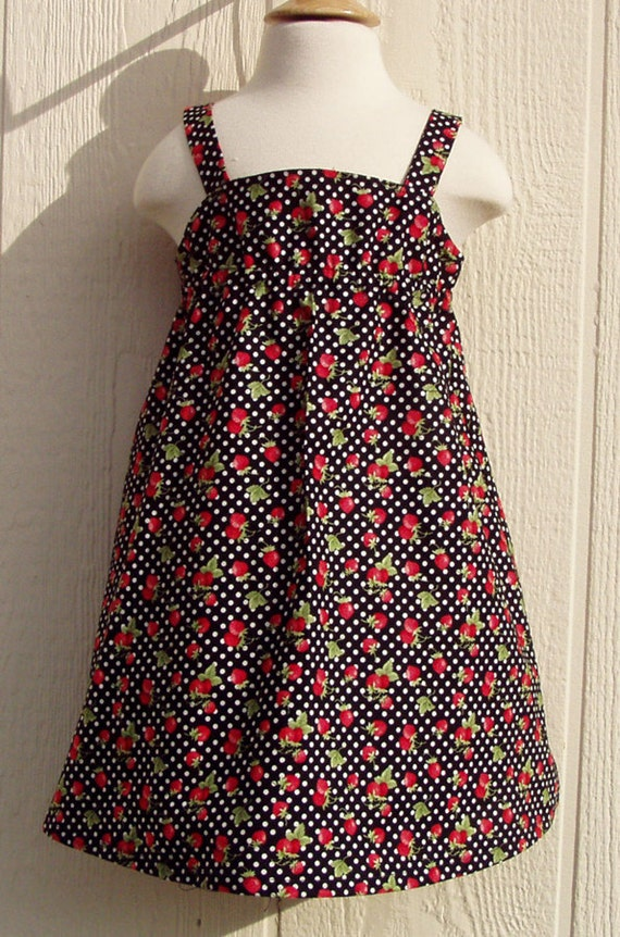 Strawberries and Polka Dots Sundress Size 18 Months