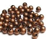 BDBAC-rd40 - Bead, Round, 4mm, Antique Copper - 100 Pieces (1pk)