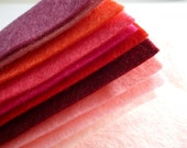 "PINKS Premium Wool Blend Felt Pack 10x 6"" squares"