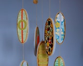 Baby Mobile Surfboards - Reclaimed Wood and Designer Prints - Beach Themed Nursery