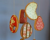 Baby Crib Mobile - Modern Wood Mobile with Designer Fabric and Paper - Colorful Baby Mobiles for a Modern Nursery