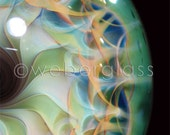 """Greeting card print of handmade marble by glass artist Travis Weber  4.25"""" x 5.5"""" A2 w/ envelope"""