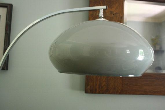 Mid century chrome blue globe arc floor lamp retro for Retro globe floor lamp