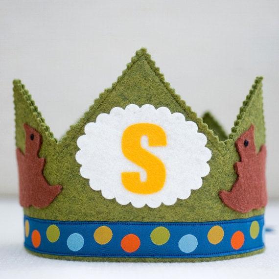 SALE waldorf birthday crown - woodland squirrel