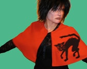 ON HOLD for STEPHANIE B. - Black Cat Halloween Cape - large