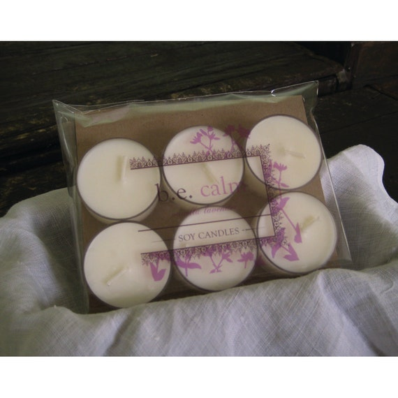 Vanilla Lavender Soy Tealight Candles, Relaxation, Handmade Vegan Candles