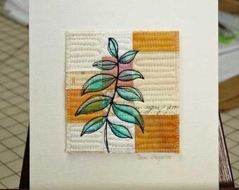Foliage Mini Art Quilt