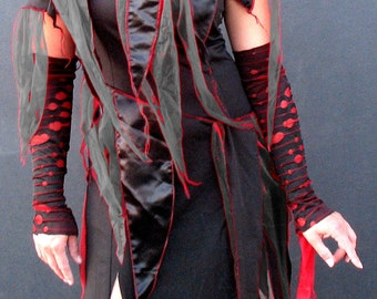 Mens or XL XXL Bloody  Zombie Sleeves Plus size Womens Goth Gauntlet zombie costume -  halloween costume adult  zombie arm warmers