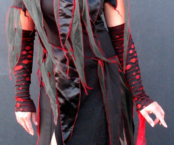 Custom for CAIRO Mens or XL XXL Bloody  Zombie Sleeves Plus size Goth Gauntlet zombie costume -  halloween costume adult  zombie arm warmers