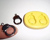 Handcuffs Flexible Push Mold Mould For Resin Paper Clay Sculpey Fimo Polymer Premo Wax Chocolate Fondant  M458