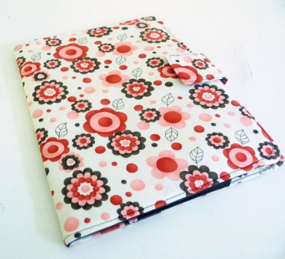 iPad 2, iPad 3 Cover - Red, Pink, Brown Floral