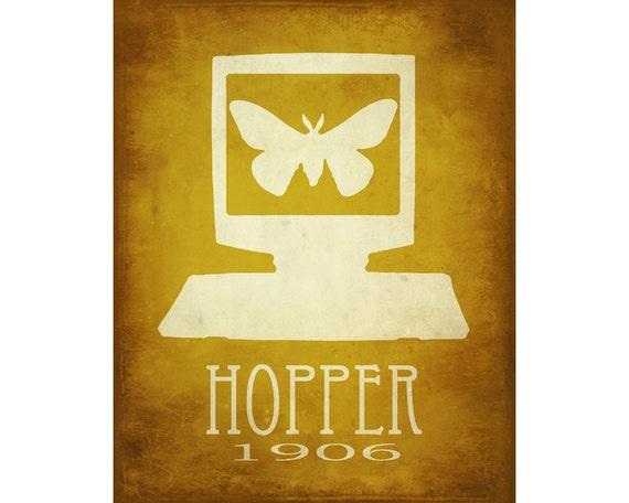 Grace Hopper 24x36 Steampunk Rock Star Scientist Poster Debugging Fine Art Print