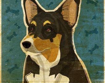 Mom Gift Ideas- Coworker Gift- Pembroke Welsh Corgi Print- Corgi Gifts-  Tri-Color- Dog Art Print- Corgi Art- Corgi Wall Decor- Dog Print