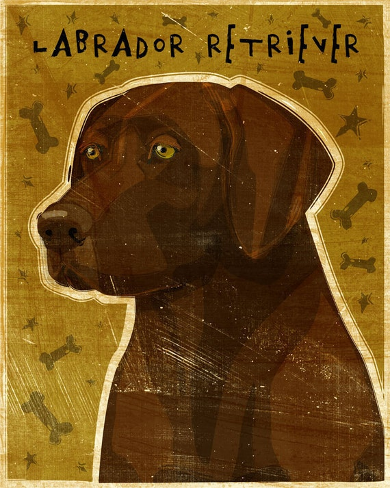 Chocolate Labrador Retriever Print  No.2- Chocolate Lab Art- Chocolate Labrador Gifts- Chocolate Lab Gifts- Labrador Retriever Gifts