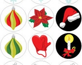 """1"""" Circle Christmas Decals"""