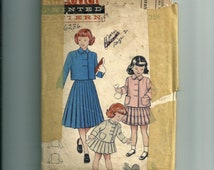 Vintage Butterick  Girls' Suit Double Breasted Jacket Pattern 6236