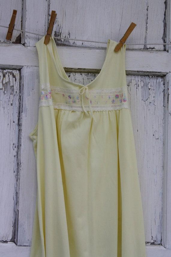 Vintage Nylon Nightgown-Sunshine Yellow