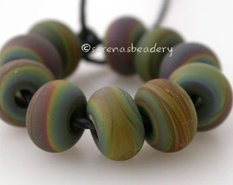 RAKU MINI Matte Handmade Glass Lampwork Bead Spacer - TANERES