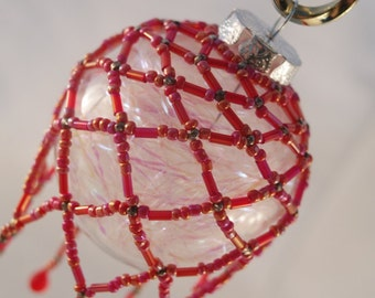Red Beaded Ornament