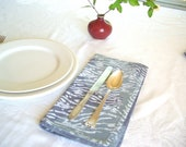 water print dinner napkins. set of two