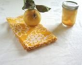 saffron gold batik tea towel