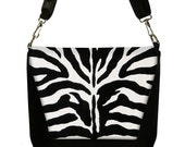 SALE Dslr Camera Bag Messenger  Womens Camera Bag SLR Camera Bag - Zebra Animal Print black white (RTS)