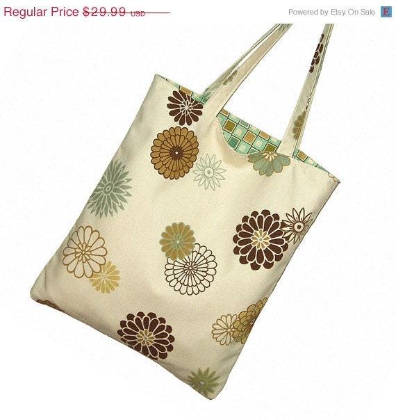 CLEARANCE -  Cotton Tote Bag Purse Cute   Canvas Tote Bag Work Tote Handbag Bridesmaid Tote Bag Knitting Tote Bag  - Colorforms Spa