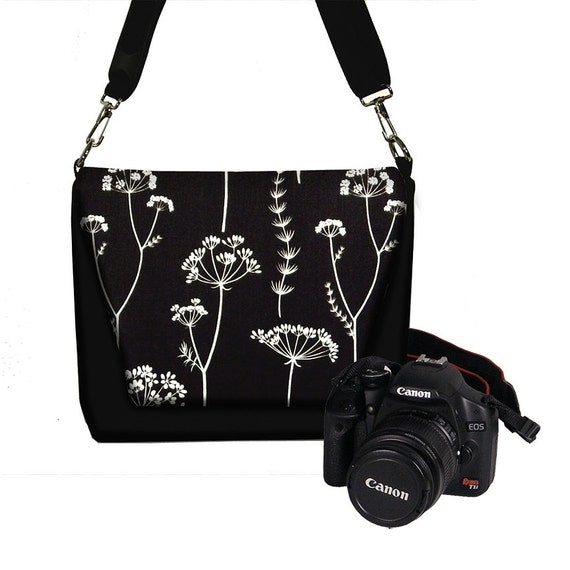 Unique Womens Dslr Camera Bag Purse Asian Plum Blossom Messenger Bag