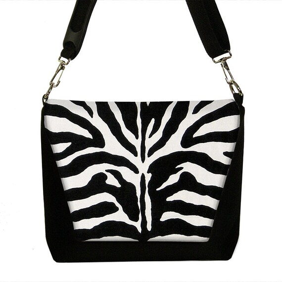 SALE Dslr Camera Bag Messenger  Womens Camera Bag SLR Camera Bag - Zebra Animal Print black white (RTS)