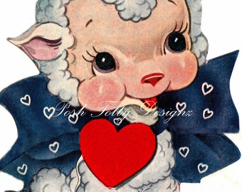 Larry the Lamb 1940s vintage Greetings Card Digital Download Printable Image (234)