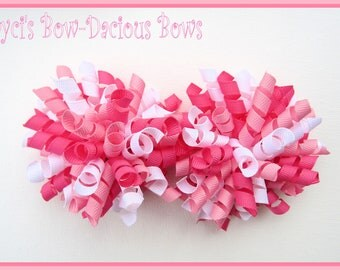Small CUSTOM Korker Set - girls hair accessories - korker bows - korkers - birthday bows - first birthday - international shipping
