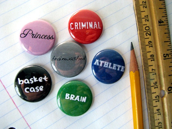 the breakfast club magnets or buttons set of inch like this item