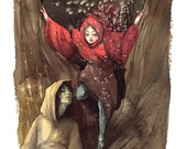 """Red Riding Hood Print 8""""x10"""""""