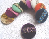 Velvet buttons, covered buttons, embellished buttons, size 75 buttons