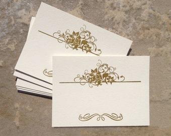 Letterpressed Decorative Frame No.03 Card Set