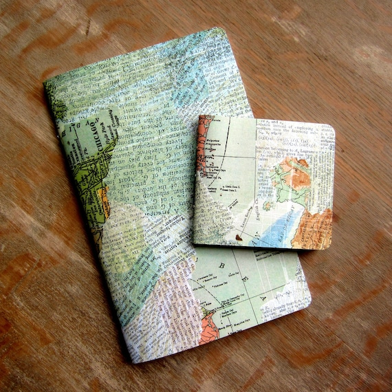 Notebook Set - Map and Dictionary - 60 unlined pages each